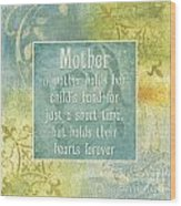 Soft Spa Mother's Day 1 Wood Print