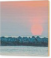 Soft Sunrise At Jetty Park Wood Print