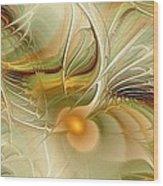 Soft Wings Wood Print