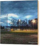 Softball Night At Matthews Elementary School Wood Print