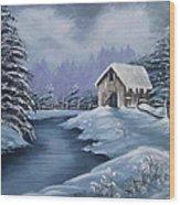 Softest Snow Wood Print