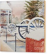 Softly Christmas Snow Wood Print by Kip DeVore