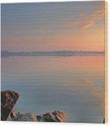 Softly Comes The Dawn Wood Print