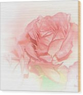 Softly Pink Wood Print