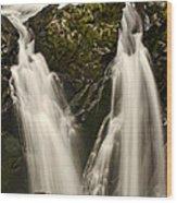 Sol Duc River Cascade Wood Print