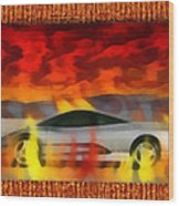 Solace Among Flames Wood Print