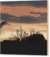 Solana Beach Sunset 2 Wood Print