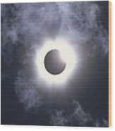 Solar Eclipse August 11 1999 Wood Print