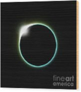 Solar Eclipse Moon Wood Print