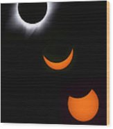 Solar Eclipse Sequence Wood Print
