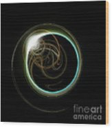 Solar Eclipse With Fractal Wood Print