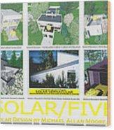 Solar Five Wood Print