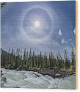 Solar Halo Over Natural Bridge, Yoho V1 Wood Print