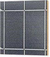 Solar Panel Collector Closeup View Wood Print