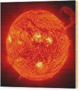 Solar Prominence Wood Print