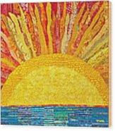 Solar Rhythms Wood Print by Susan Rienzo