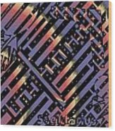 Solar Sagittarius Maze Wood Print