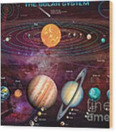 Solar System 1 Wood Print by Garry Walton