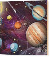 Solar System 2 Wood Print