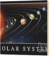 Solar System Poster Wood Print by Stocktrek Images