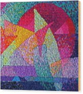 Solar Tapestry Wood Print by Diane Fine
