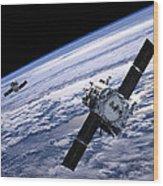 Solar Terrestrial Relations Observatory Satellites Wood Print