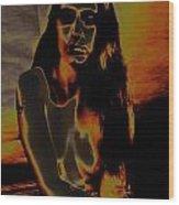 Solarised Nude 4 Wood Print