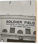 Soldier Field Wood Print