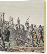 Soldiers And Artillery Of The 15th Wood Print