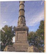 Soldiers And Sailors Monument - Boston Wood Print