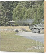 Soldiers Fire A Tow Missile Wood Print