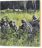 Soldiers Maintain Security At Fort Wood Print