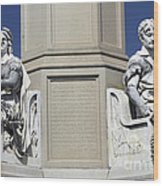 Soldiers Monument Detail Wood Print