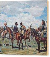Soldiers On Horseback Wood Print
