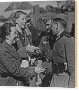 Soldiers Receive Gifts From Austrian Wood Print