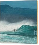 Sole Surfer Wood Print