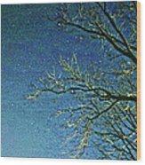 Solemn Sky Wood Print