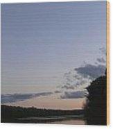Solemn Twilight Wood Print