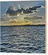 Solent Sun Rays Wood Print