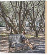 Solitaire Reading Wood Print