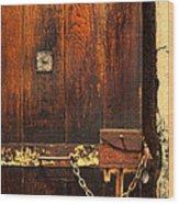Solitary Confinement Door Wood Print