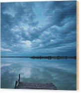 Solitary Pier Wood Print