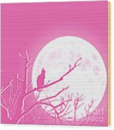 Solitary Pink Background Wood Print