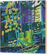 Solitude At Massapoag Lake Wood Print