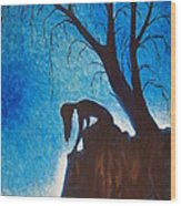 Solitude Wood Print by Dayna Reed