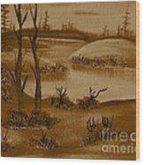 Solitude Of Winter Wood Print