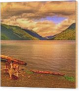 Solitude On Crescent Lake Wood Print