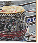 Solo Drum Hdr Wood Print