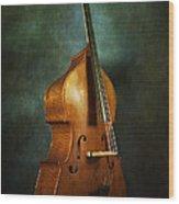 Solo Upright Bass Wood Print