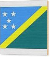 Solomon Island Flag Wood Print